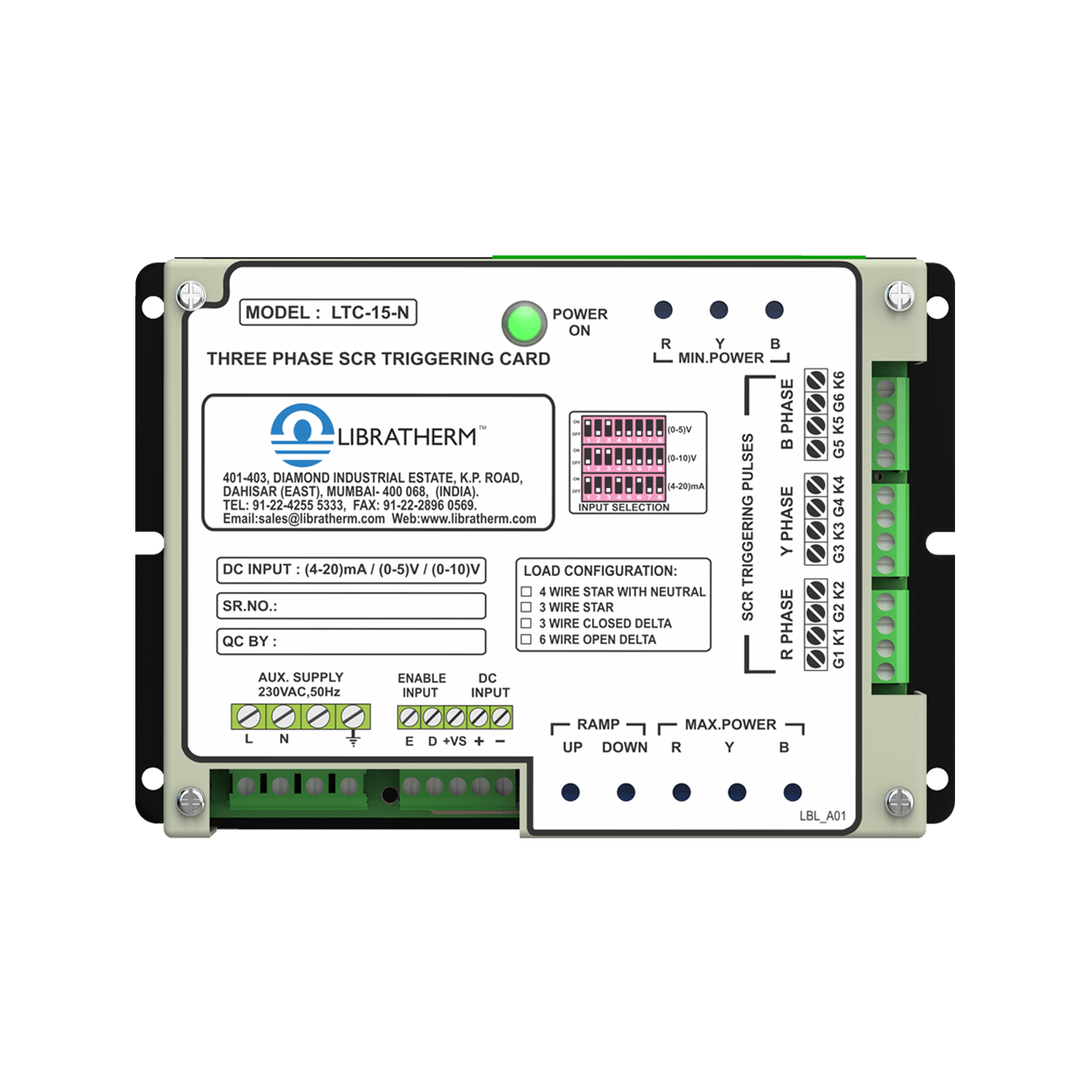 thyristor-triggering-card-ltc-15-front