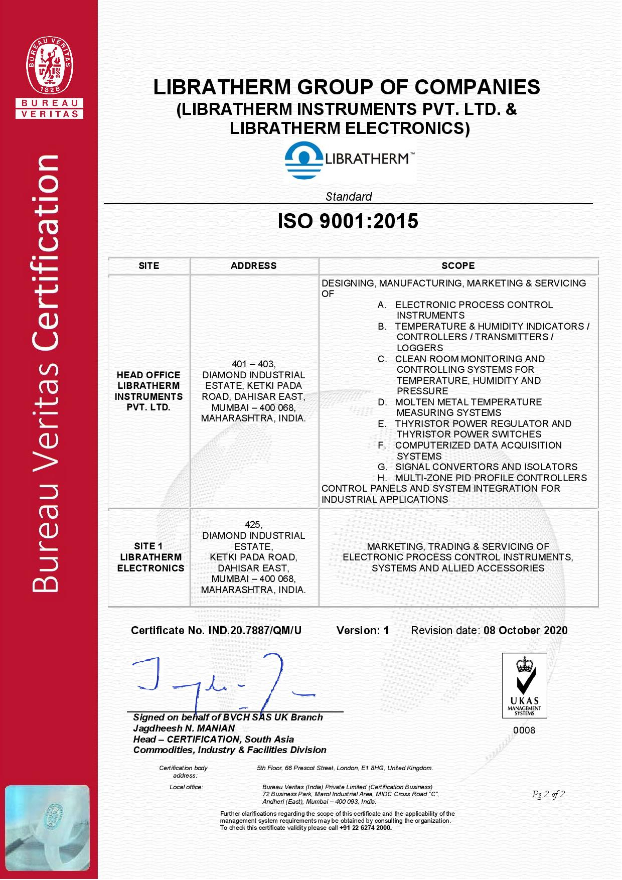 ISO-Certificate-Libratherm Page 2